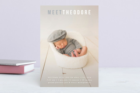 Sweet Introduction Birth Announcements