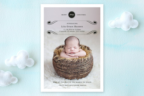 Luxe Flourish Birth Announcements