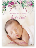 Fleurs De Noel Birth Announcements