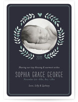 Sweet Wreath Birth Announcements