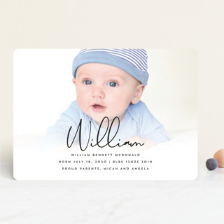 Black and White Story Birth Announcements