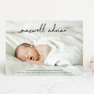 name simply Birth Announcements
