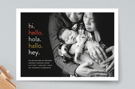 Hi. Hello. Birth Announcements