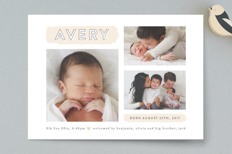 The Trio Birth Announcements