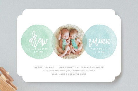 Seeing Double Birth Announcements