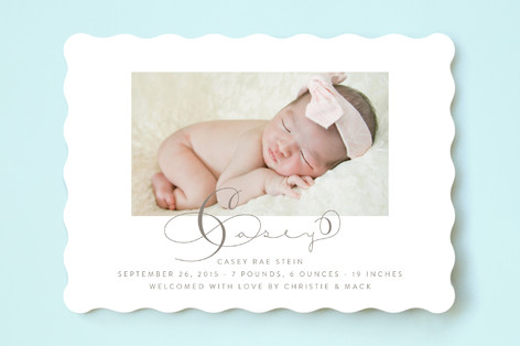 Longhand Birth Announcements