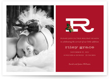 Holly + Alphabet Baby Birth Announcements