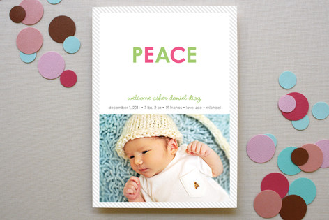Peaceful Baby Birth Announcements