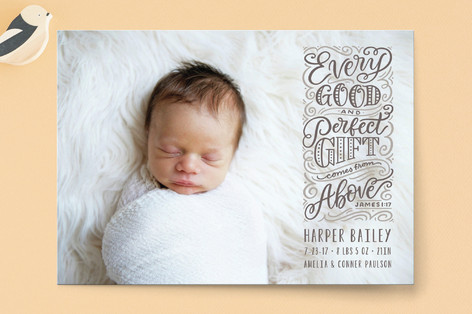 Stacked Gifts Birth Announcements
