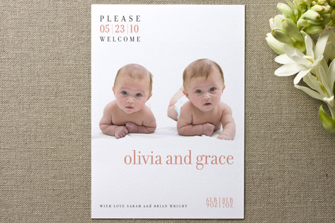 float + welcome Birth Announcements