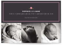 Preppy Button Birth Announcements