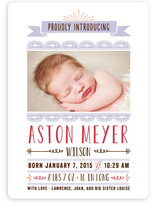 Scalloped Banner Birth Announcements