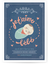 Je T&#039;aime Bebe Birth Announcements