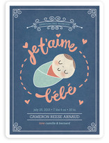 Je T'aime Bebe Birth Announcements