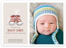 Tiny Sneakers Birth Announcements