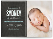 Sophistication Birth Announcements