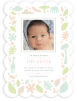 Petite Jungle Frame Birth Announcements