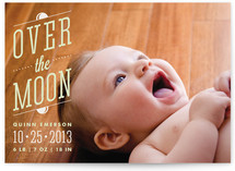 Over the Moon Birth Announcements