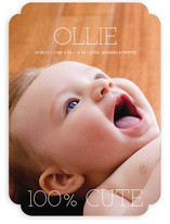 100 Percent Cute Birth Announcements