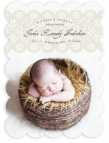 Wrapped in Lace Birth Announcements