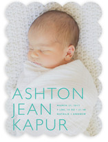 Baby Mine Modern Birth Announcements