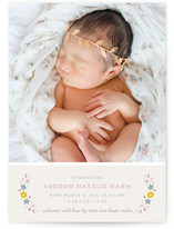 Serafina Floral Birth Announcements