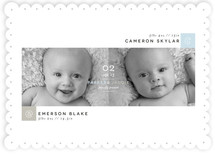 Blocks Twin Birth Announcements