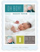 Modern Album Birth Announcements