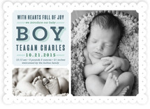 Full of Joy Birth Announcements