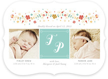Folk Initial Birth Announcements