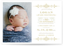 Vintage Gilded Birth Announcements