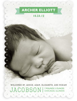 Vintage Banner Birth Announcements