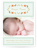 Stars and Butterflies Birth Announcements
