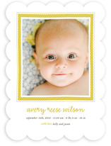 Polka Dot Frame Birth Announcements
