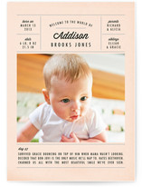 A Day in the Life Birth Announcements
