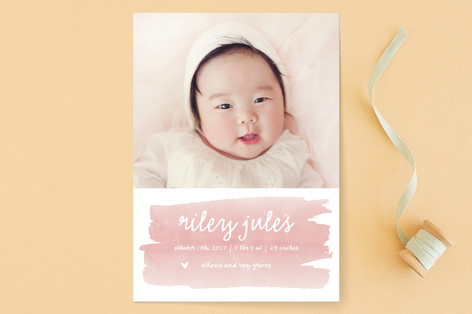 Sweet Splash Birth Announcements