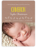 Simply Yours Natural Kraft Paper Birth Announcements