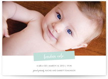 Modern Chevron Birth Announcements