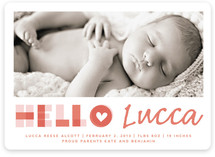A Heartfelt Hello Birth Announcements