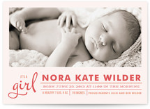 Little Hello Birth Announcements