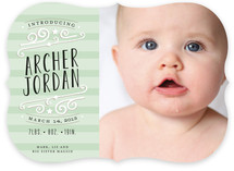 Star-Striped Label Birth Announcements