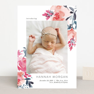 Gentle Bouquet Birth Announcements