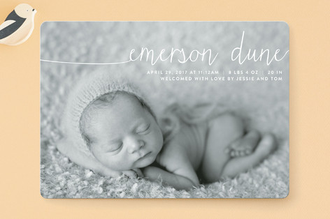 Big Introduction Birth Announcements