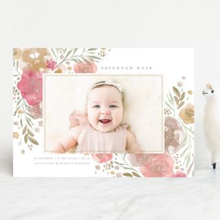 Garden Bouquet Birth Announcements