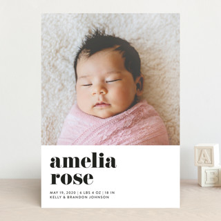 Modern Serif Birth Announcements