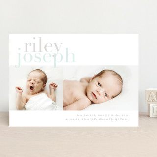 Clean Slate Birth Announcements