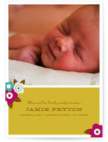 Floral Bloom Birth Announcements