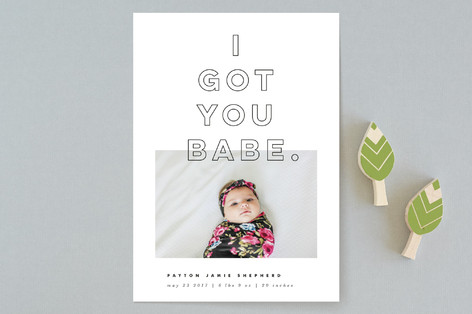I Got You Babe Birth Announcements