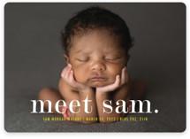 Meeting Birth Announcements