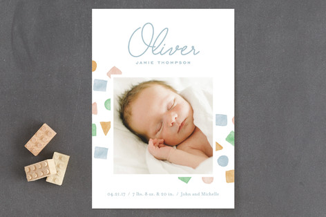 Little Blocks Birth Announcements